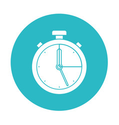 Circle light blue with stopwatch icon vector