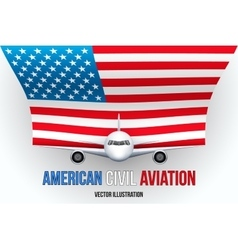 Civil aircraft with flag vector