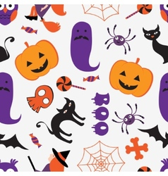 Colorful Halloween pattern vector image vector image