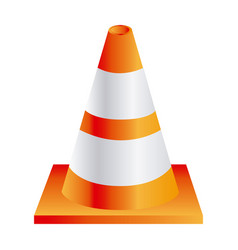 Cone traffic sign icon vector