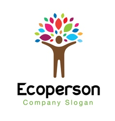 Eco colors person vector