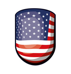 Emblem with flag united states of america colorful vector
