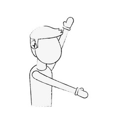 fitness man avatar cartoon vector image vector image