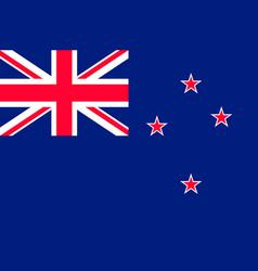Flag new zealand flat style vector