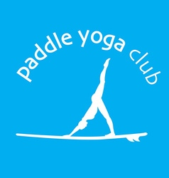 Flat design style of stand up padlle yoga lo vector