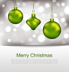 Glowing postcard with christmas balls vector