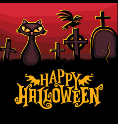 halloween greeting card holiday series vector image
