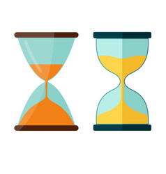 hourglass icon transparent sandglass vector image