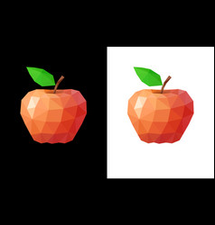 Low poly red apple vector