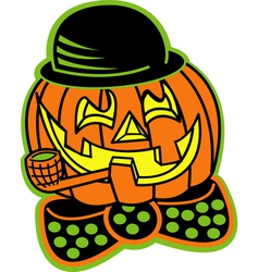 Pumpkin top hat vector image vector image