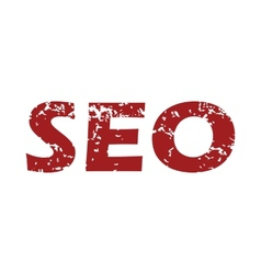 Red grunge seo logo vector image vector image