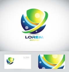 Sphere 3d logo icon element vector