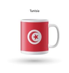 Tunisia flag souvenir mug on white background vector
