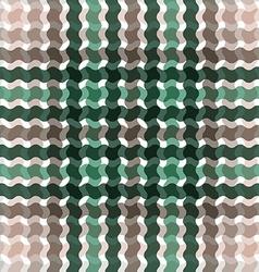 Wave tartan green brown gradient background vector image