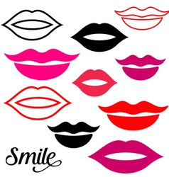 Woman lips vector image vector image