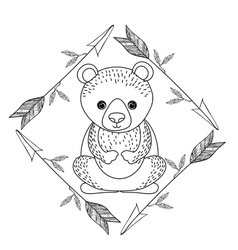 Animal drawing style boho icon vector