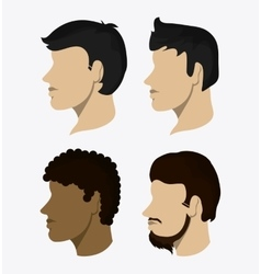 Man people head design vector