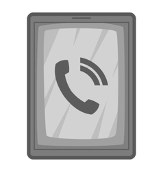 Phone incoming call icon gray monochrome style vector