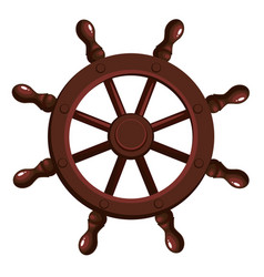 cartoon ship s wheel vector image