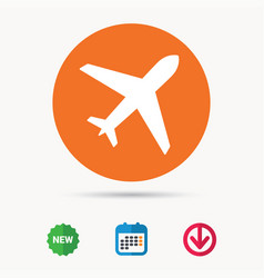 Plane icon flight transport sign vector