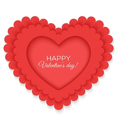 Valentines heart isolated on white background vector