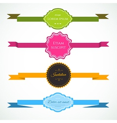 Ribbons colorful set vector