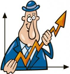 cartoon business graph vector image