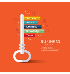 Key to success flat design concept vector