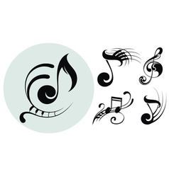 Ornamental music notes vector