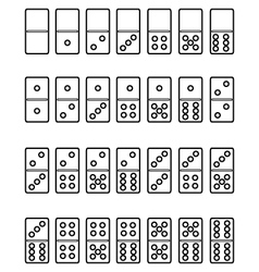 set of domino vector image