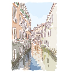 venice watercolor style vector image