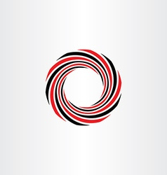 Abstract tech business circle red black icon vector