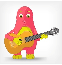 Funny monster guitarist vector
