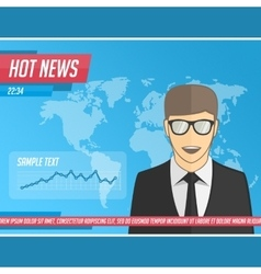 Anchorman hot news vector image