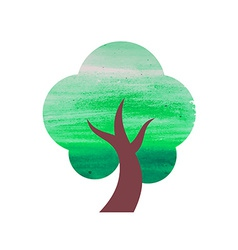 Abstract Watercolor Tree vector image vector image