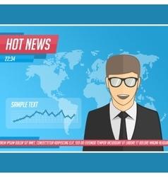 Anchorman hot news vector image