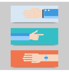 Business hands gestures design elements isolated vector image vector image