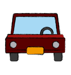 Car frontview symbol vector