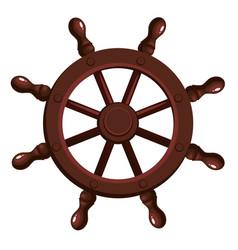 Cartoon ship s wheel vector
