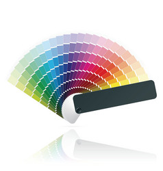color fan vector image vector image