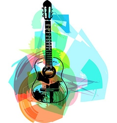 Colorful guitar vector