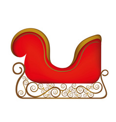 Colorful silhouette of sleigh of santa claus vector