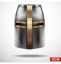 Crusader Knights Helmet Background vector image vector image