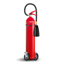 fire extinguisher sign 3d realistic red vector image