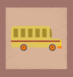 Flat shading style icon school bus vector