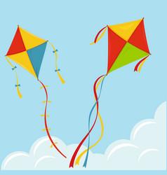 fly kite in sky vector image