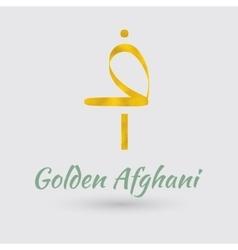 Golden afghani symbol vector