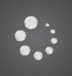 loading sketch logo doodle icon vector image vector image