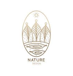 logo nature oval vector image