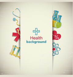 Medicine and science paper background vector